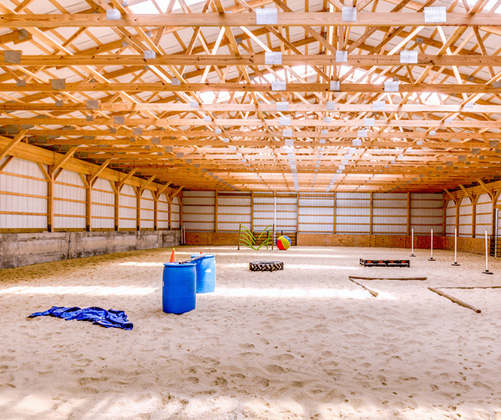 Equestrian Building Solutions including Metal Roofing & Post Frame Building - equestrian-interior